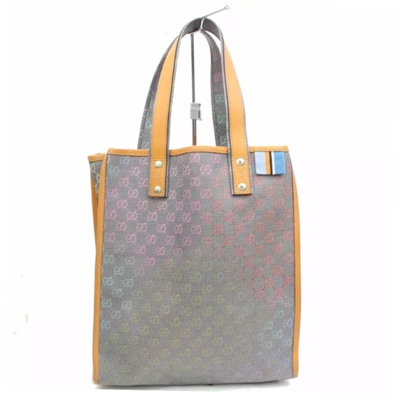 25f3cff6ee6 Gucci Handbags - Gucci Rainbow GG Monogram Tote Bag